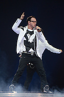 Donnie Wahlberg of the New Kids on The Block performs at BB&T Center during The Package Tour 2013, Sunrise, Florida, June 22, 2013