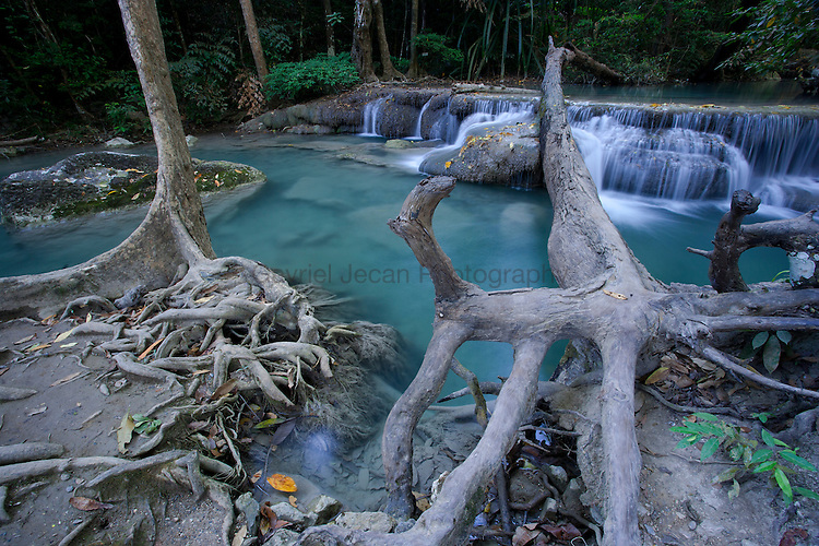 Erawan falls in the Erawan National Park