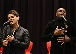 Michael Longoria and Nathan Lee Graham attend 'The View Upstairs' sneak preview and panel discussion at The LGBT Community Center on February 1, 2017 in New York City.