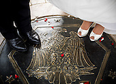 Erica Prosser and Chebon Marshall Wedding at the War Memorial in Washington, DC. <br /> <br /> PHOTOS/John Nelson