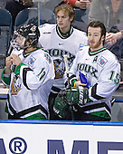 Andrew Kozek, Philippe Lamoureux, Mike Prpich - The Boston College Eagles defeated the University of North Dakota Fighting Sioux 6-5 on Thursday, April 6, 2006, in the 2006 Frozen Four afternoon Semi-Final at the Bradley Center in Milwaukee, Wisconsin.
