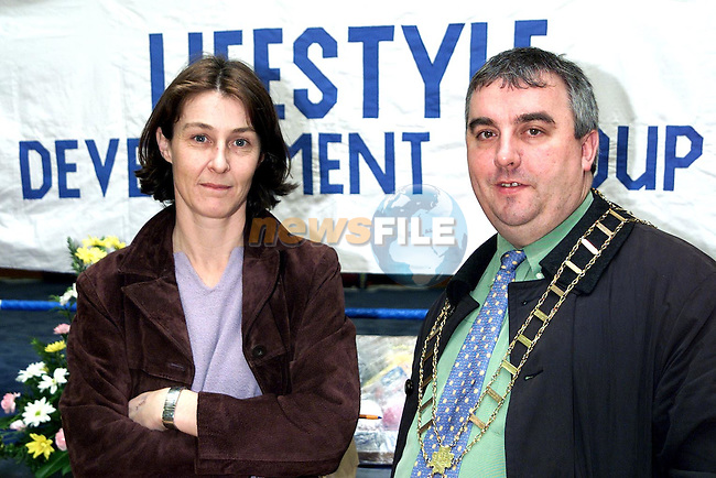 Mairead Meade and Mayor Sean Collins at Lifestyle Development Group's Open Day in Ballsgrove..Picture Paul Mohan Newsfile