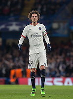 Adrien Rabiot of Paris Saint-Germain during the UEFA Champions League Round of 16 2nd leg match between Chelsea and PSG at Stamford Bridge, London, England on 9 March 2016. Photo by Andy Rowland.