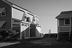 Summer beachfront cottages.