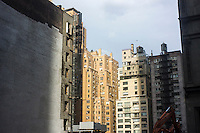 A site being developed on West 57th Street in Midtown Manhattan in New York is seen on Sunday, January 20, 2013. The site is part of the location of a proposed Nordstrom department store. (© Richard B. Levine)