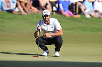 Adrian Otaegui (ESP) on the 18th green during Sunday's Final Round of the 2018 Turkish Airlines Open hosted by Regnum Carya Golf &amp; Spa Resort, Antalya, Turkey. 4th November 2018.<br /> Picture: Eoin Clarke | Golffile<br /> <br /> <br /> All photos usage must carry mandatory copyright credit (&copy; Golffile | Eoin Clarke)
