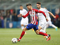 Calcio, finale di Champions League: Real Madrid vs Atletico Madrid. Stadio San Siro, Milano, 28 maggio 2016.<br /> Atletico Madrid Yannick Carrasco in action during the Champions League final match between Real Madrid and Atletico Madrid, at Milan's San Siro stadium, 28 May 2016.<br /> UPDATE IMAGES PRESS/Isabella Bonotto