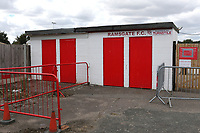 The turnstiles remain closed as the match will be played with no spectators allowed entry during Ramsgate vs Folkestone Invicta, Friendly Match Football at Southwood Stadium on 1st August 2020