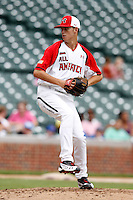 Pitcher Cole Irvin #24 during the Under Armour All-American Game at Wrigley Field on August 13, 2011 in Chicago, Illinois.  (Mike Janes/Four Seam Images)