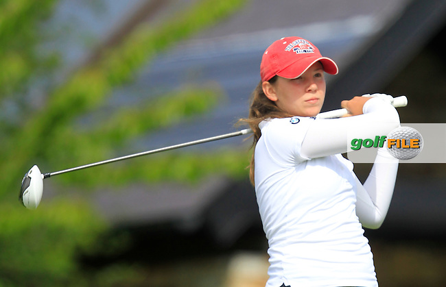 Isabella Holpfer (AUT) during Round 1 of the Irish Women's Open Strokeplay Championship at Dun Laoghaire Golf Club on Saturday 23rd May 2015.<br /> Picture:  Thos Caffrey / www.golffile.ie