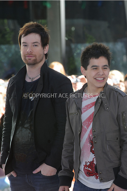WWW.ACEPIXS.COM . . . . .....May 29, 2008. New York City.....American Idol contestants David Cook and David Archuleta perform on NBC's 'Today Show' at Rockefeller Center...  ....Please byline: Kristin Callahan - ACEPIXS.COM..... *** ***..Ace Pictures, Inc:  ..Philip Vaughan (646) 769 0430..e-mail: info@acepixs.com..web: http://www.acepixs.com