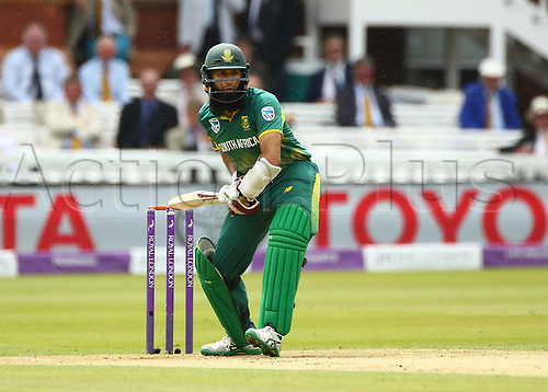 May 29th 2017, Lords, London, England, One Day International Cricket, England versus South Africa; Hashim Amla of South Africa in batting action