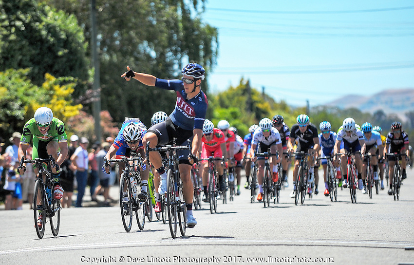 Alex Frame (JLT Condor) wins stage three of the NZ Cycle Classic UCI Oceania Tour in Wairarapa, New Zealand on Tuesday, 24 January 2017. Photo: Dave Lintott / lintottphoto.co.nz