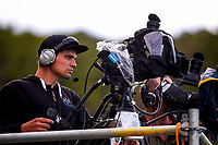 Cameramen film the Oceania Football Championship final (second leg) football match between Team Wellington and Auckland City FC at David Farrington Park in Wellington, New Zealand on Sunday, 7 May 2017. Photo: Dave Lintott / lintottphoto.co.nz