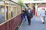 Ffestiniog railway, Blaenau Ffestiniog station, Gwynedd, north west Wales, UK
