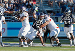 September 15, 2012: Nevada Wolf Pack defensve end #90 Tyler Houk rushes a punt against the Northwestern State Demons during their NCAA football game played at Mackay Stadium on Saturday afternoon in Reno, Nevada.