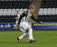 Jon Scullion in the St Mirren v Celtic Scottish Professional Football League Under 20 match played at St Mirren Park, Paisley on 30.4.14.