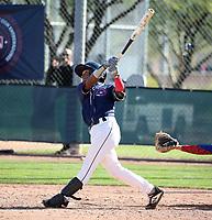 Joaan De Jesus participates in the MLB International Showcase at Salt River Fields on November 12-14, 2019 in Scottsdale, Arizona (Bill Mitchell)