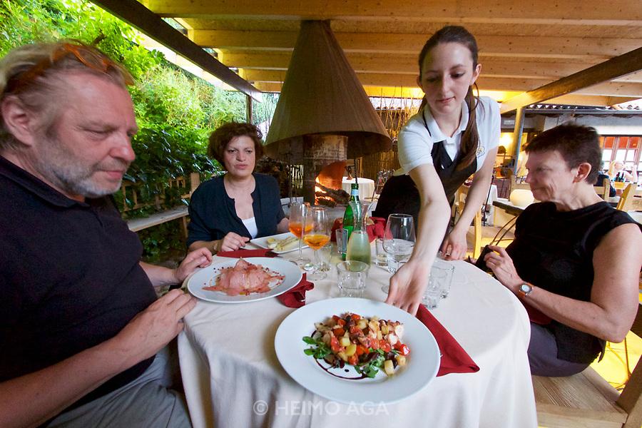 Italy, Collio. Cormons, Osteria la Subida.