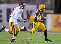 Nov 22, 2007; Tempe, AZ, USA; Arizona State Sun Devils wide receiver (13) Chris Mcgaha against the Southern California Trojans at Sun Devil Stadium. Mandatory Credit: Mark J. Rebilas-US PRESSWIRE