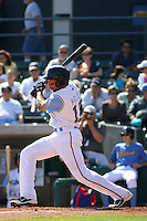Myrtle Beach Pelicans outfielder Jared Boldin #15 at bat during a game against the Wilmington Blue Rocks at BB&T Coastal Field in Myrtle Beach, South Carolina on April 10, 2011.   Photo By Robert Gurganus/Four Seam Images