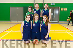 St. Josephs at the U18 Girls Basketball Final Gneeveguilla v St Josephs at Moyderwell Mercy Gym on Sunday. Pictured front l-r Rachel Horan, Frances Broderick, Ellen Scanlon, Back l-r Emma Sexton, Roanna McNulty, Anna O Connell