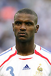 09 July 2006: Eric Abidal (FRA).  Italy defeated France in a penalty kick shoot-out at the Olympiastadion in Berlin, Germany in match 64, the championship game, of the 2006 FIFA World Cup Finals.