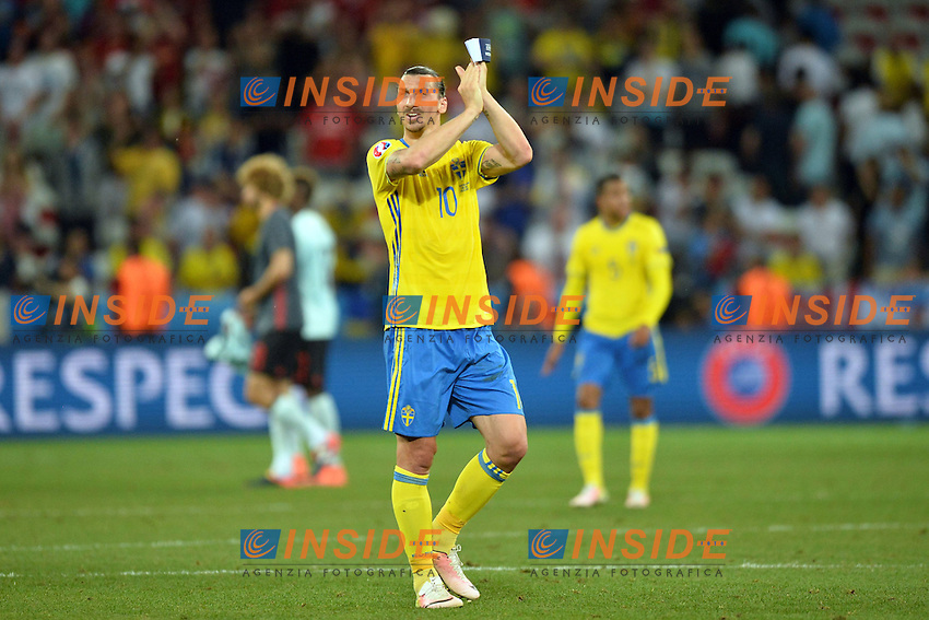Zlatan Ibrahimovic (sue) <br /> Nice 22-06-2016 Stade de Nice Football Euro2016 Sweden - Belgium / Svezia -  Belgio Group Stage Group E<br /> Foto Anthony Bibard / Panoramic / Insidefoto