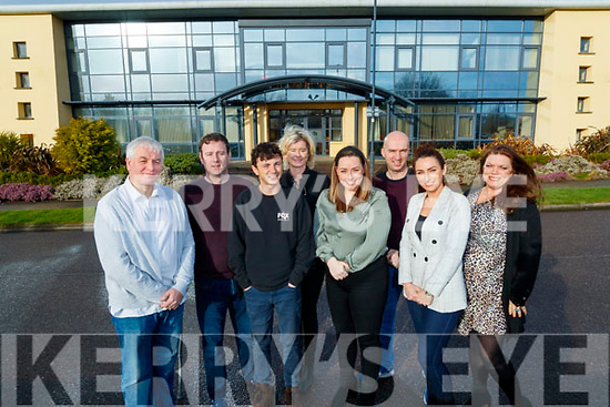 New Frontiers at the Tom Crean centre at the Tralee Technology park, from left: Mark Hanly (Hydrogen Power Ireland), Nicholas Lucid (DigiWiz), Chris Barrett (Fox in a box), Caroline Sugrue (TickBox), Clodagh Shannon (Nonna Diary), David Lyons (Rawmation), Shauna Cashell (9-5 Style) and Krista Clem O'Sullivan (Emerald Isle Growers)