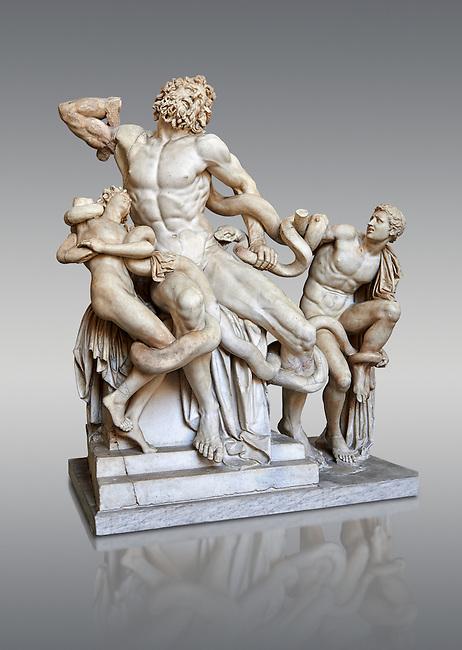 , Vatican Museum Rome, Italy,  grey art background