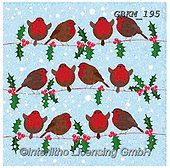 Kate, CHRISTMAS SYMBOLS, WEIHNACHTEN SYMBOLE, NAVIDAD SÍMBOLOS, paintings+++++Christmas page 70,GBKM195,#xx# ,red robin
