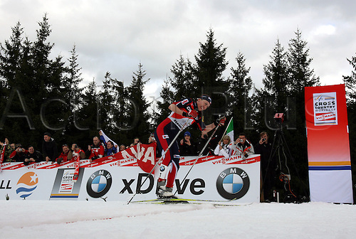 09.01.2011.  TOUR DE SKI - STAGE 8 - FINAL CLIMB. KOWALCZYK Justyna† at the finish of the final climb of Cermis in Val Di Fiemme, Italy.