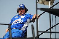 Oct. 10, 2009; Fontana, CA, USA; NASCAR Sprint Cup Series crew chief Pat Tryson during practice for the Pepsi 500 at Auto Club Speedway. Mandatory Credit: Mark J. Rebilas-
