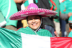 22 JUN 2010: Mexico fan. The Mexico National Team lost 1-2 to the Uruguay National Team at Royal Bafokeng Stadium in Rustenburg, South Africa in a 2010 FIFA World Cup Group A match.