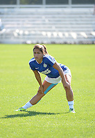 Kansas City, MO - Sunday September 04, 2016: Lo'eau LaBonta prior to a regular season National Women's Soccer League (NWSL) match between FC Kansas City and the Sky Blue FC at Swope Soccer Village.