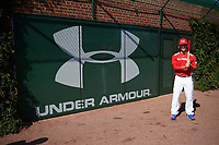 Alek Thomas (2) of Mount Carmel High School in Chicago, Illinois poses for a photo before the Under Armour All-American Game presented by Baseball Factory on July 29, 2017 at Wrigley Field in Chicago, Illinois.  (Mike Janes/Four Seam Images)