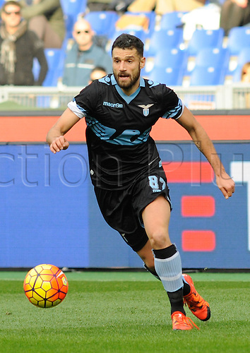 24.01.2016. Stadium Olimpico, Rome, Italy.  Serie A football league. SS Lazio versus Chievo verona. Antonio Candreva in action