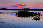 Colorful sky over English Lake in the Chequamegon National Forest.
