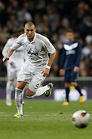 18.03.2012 SPAIN -  La Liga matchday 28th  match played between Real Madrid CF vs Malaga (1-1) at Santiago Bernabeu stadium. The picture show Karim Benzema (French Forward of Real Madrid)