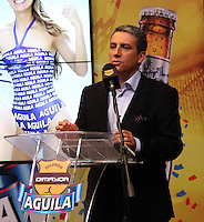 BOGOTA -COLOMBIA, 19-DICIEMBRE-2014. Fernando Jaramillo , vicepresidente de asuntos corporativos de Bavaria durante su intervencion en el  sorteo de los cuadrangulares de ascenso en las instalaciones de Bavaria nuevo patrocinador del futbol colombiano .El grupo A quedo  conformado por los equipos : Cucuta ,Bucaramanga, Real Cartagena ,y Leones del Quindio ,el grupo B conformado por  los equipos: Pereira ,Cortulua ,Magdalena y America. /  Fernando Jaramillo, vice president of corporate affairs Bavaria during his intervention in the draw for the climb homers facilities Bavaria new sponsor of Colombian soccer .The group A I remain composed of teams: Cucuta, Bucaramanga, Real Cartagena, and Lions Quindio, group B comprised of teams: Pereira, Cortulua, Magdalena and America. Photo / VizzorImage / Felipe Caicedo  / Staff