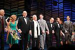 "Dick Latessa, Kristin Chenoweth, Neil Simon, Burt Bacharach, Sean Hayes, Hal David, Rob Ashford, Tony Goldwyn<br />taking a bow on the  Opening Night Broadway performance Curtain Call for ""PROMISES, PROMISES"" at the Broadway Theatre, New York City.<br />April 25, 2010"