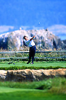 Nick Faldo of England teess 2000 US Open Golf at Pebble Beach
