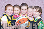 TAKING PART: The Fiats team that competed in the Basketball Blitz in Currow Community Centre last Saturday. L-r: Rachel OConnor, Caragh Lynch, Hannah OConnor, Paula Fleming and Kathleen OSullivan..