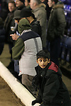 Birmingham City 0 Liverpool 7, 21/03/2006. St Andrews, FA Cup 6th Round. Birmingham City (blue) versus Liverpool,  The home side lost 0-7. Picture shows a young City fan of Asian descent watching his side in action. Photo by Colin McPherson.