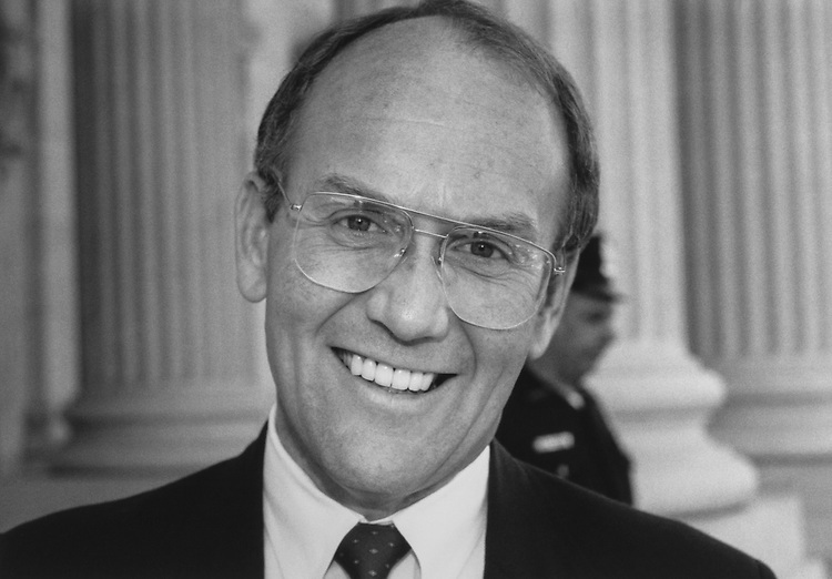 Portrait of Sen. Larry Craig, R-Idaho. 1992 (Photo by CQ Roll Call via Getty Images)