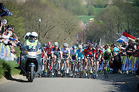 World Champion Michal Kwiatkowski (POL/Ettix-Quickstep) prominentely up front over Gulpenerberg<br /> <br /> <br /> 50th Amstel Gold Race 2015