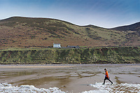 Pictured: The National Trust cottage. Tuesday 18 February 2020<br /> Re: General view of Rhossili in the Gower Peninsula near Swansea, Wales, UK.