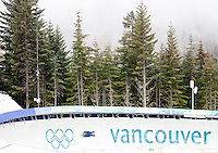 Vancouver, British Columbia, Canada--2010 Winter Olympic Games, Whistler Sliding Center, Luge Track, Vancouver, Canada.