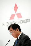 Osamu Masuko, Mitsubishi Motors Corporation (MMC) President and Chief Executive Officer speaks during a press conference on October 20, 2016, Tokyo, Japan. Ghosn announced that Nissan completed its acquisition of a 34% equity stake in MMC for 237 billion yen, becoming its single largest shareholder. (Photo by Rodrigo Reyes Marin/AFLO)