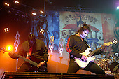 Slipknot Performs on there All Hope Is Gone World Tour (2008–2009).(#2) Paul Gray – bass guitar, backing vocals.Photo Credit: Eddie Malluk/AtlasIcons.com